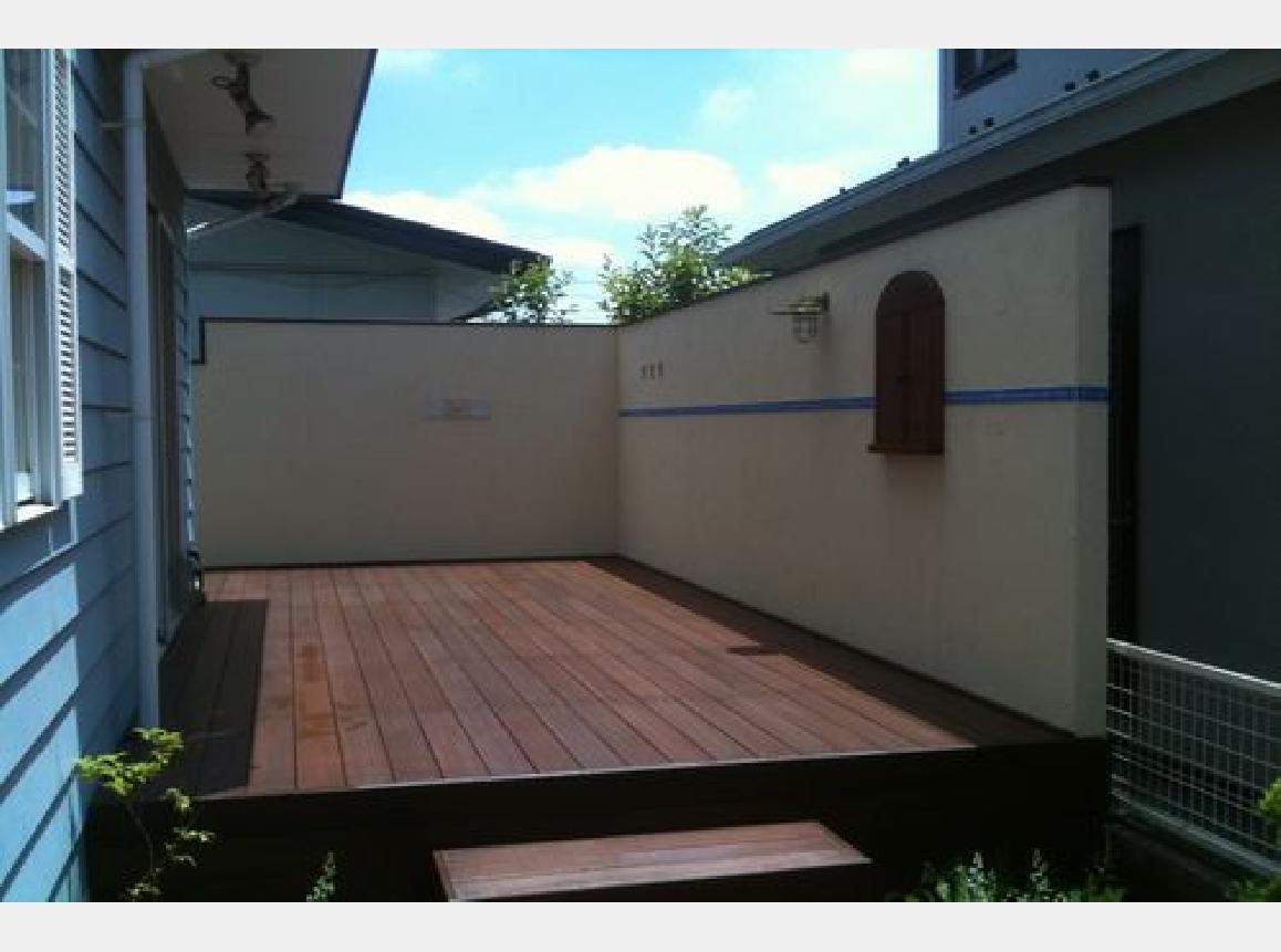 塗り壁フェンス・・